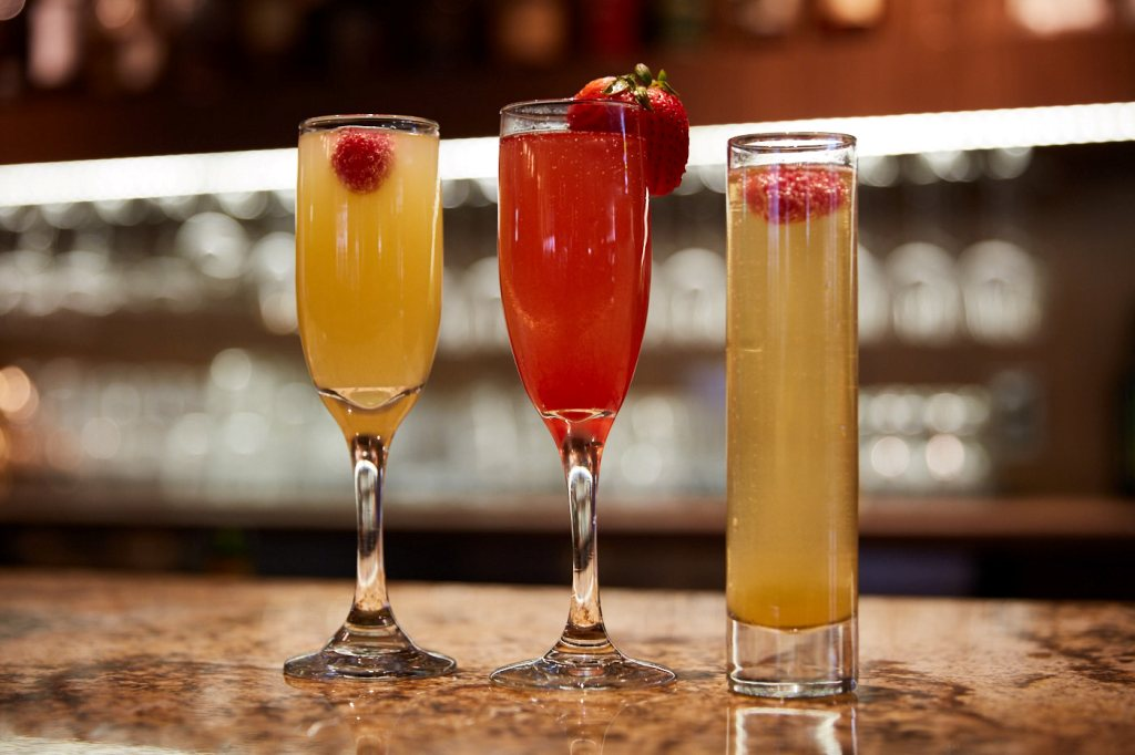 mimosas at testa barra sunday brunch
